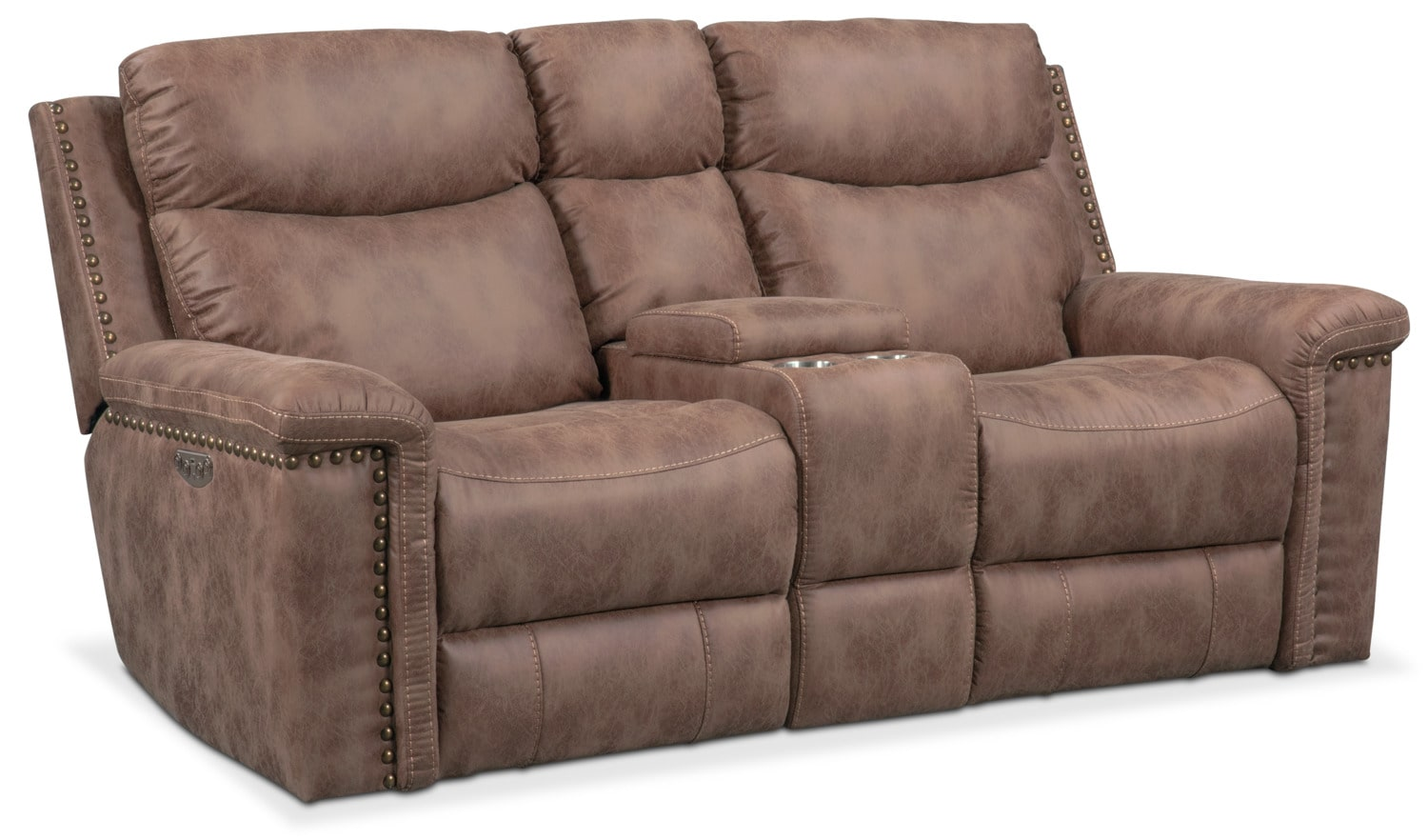 Living Room Furniture - Montana Dual-Power Reclining Loveseat