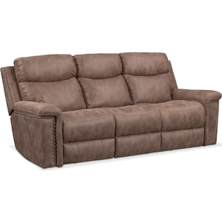 Montana Dual Power Reclining Sofa - Taupe