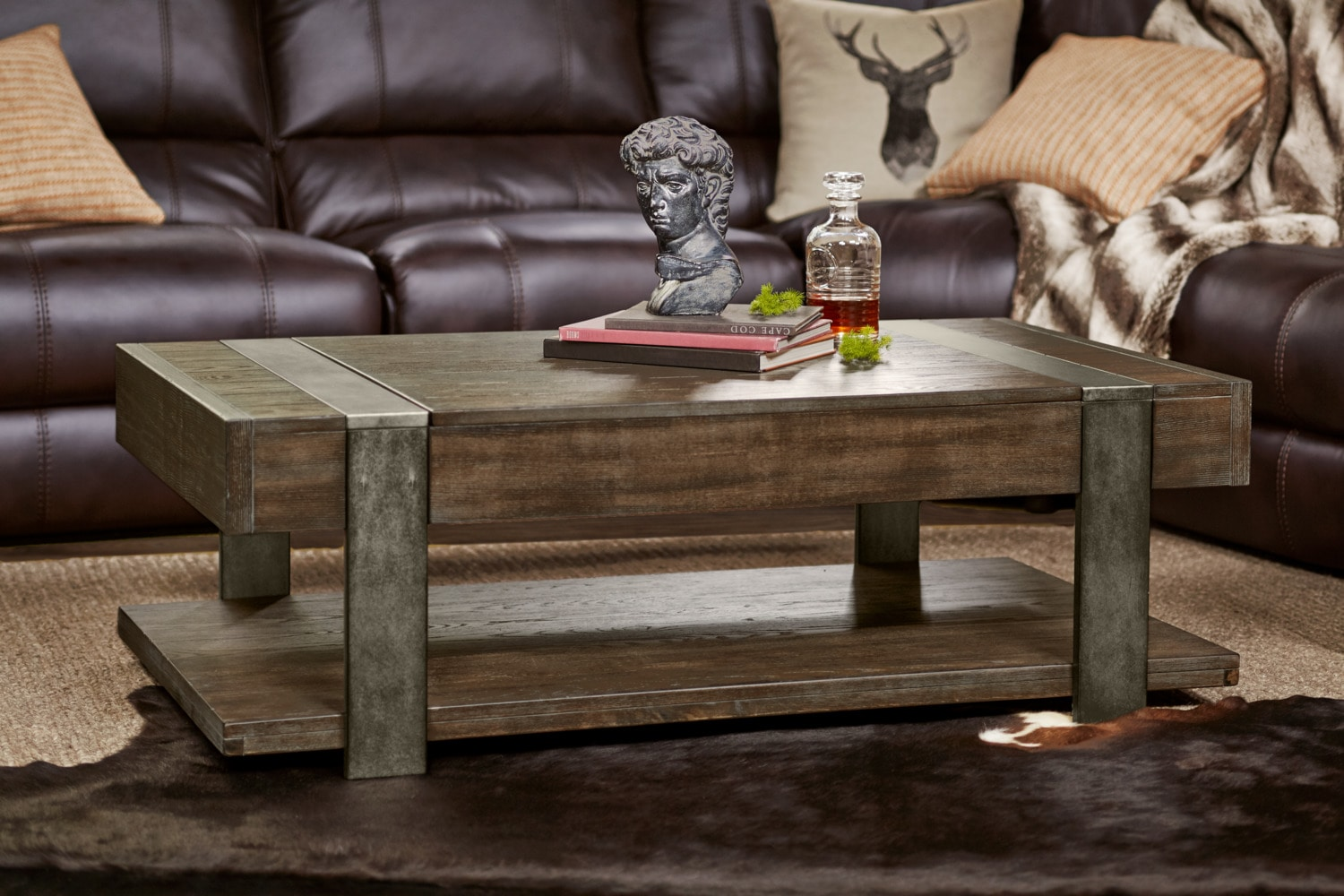 Union City Lift Top Cocktail Table Bark American Signature Furniture