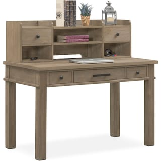 Tribeca Youth Desk and Hutch - Gray