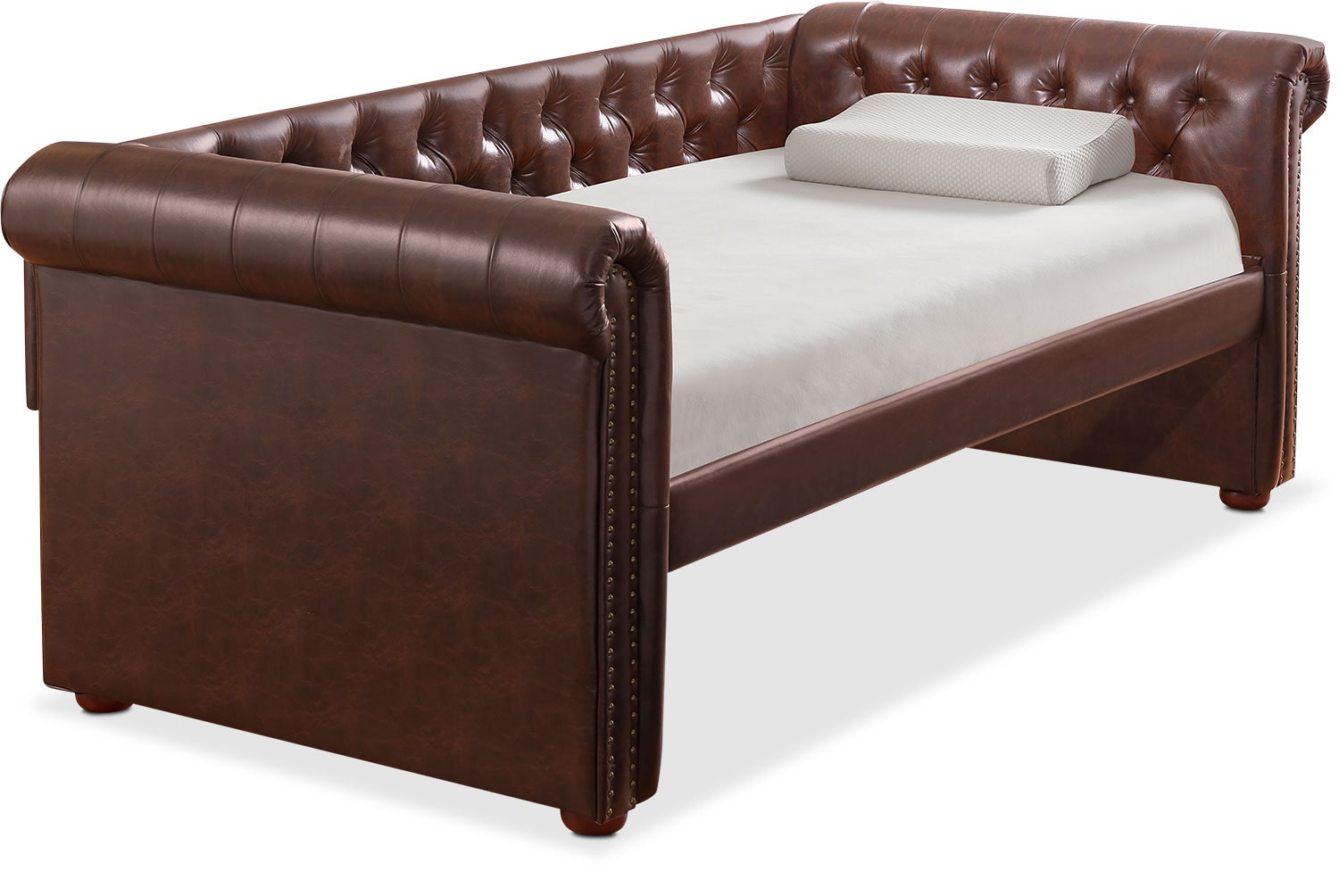 Shelton Twin Upholstered Daybed   Brown