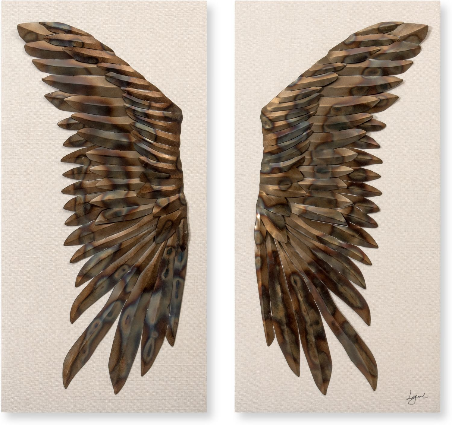 Home Accessories - Set of 2 Raven Wings Wall Décor