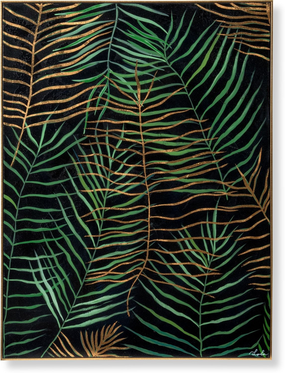Home Accessories - Layered Leaves Framed Painting
