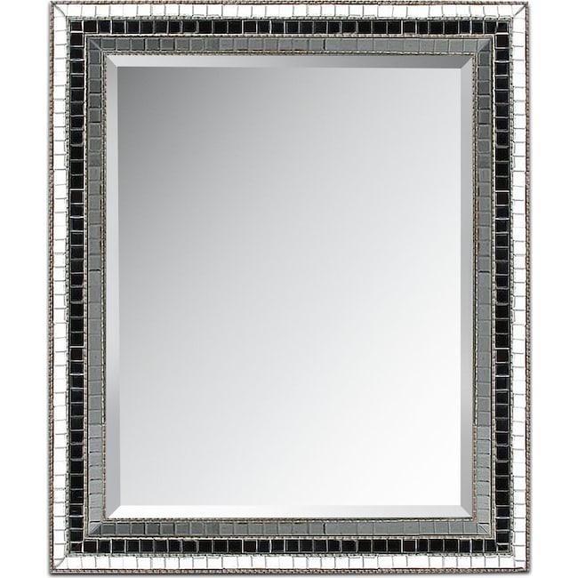 Home Accessories - Triple Mosaic Mirror - Silver