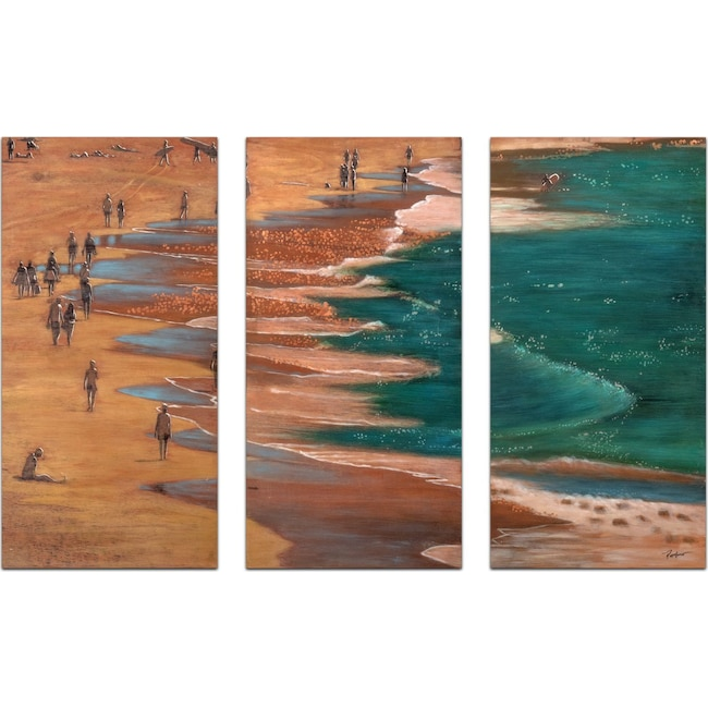 Home Accessories - Set of 3 Salton Sea Painting