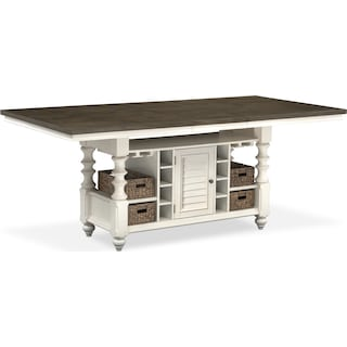 Charleston Kitchen Island - Gray and White