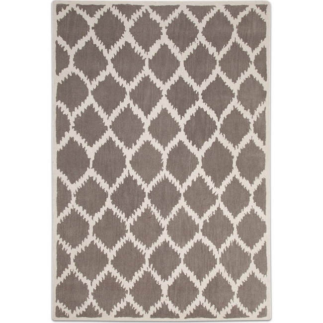 Rugs - Lifestyle Kimble 8' x 10' Area Rug - Gray and Ivory