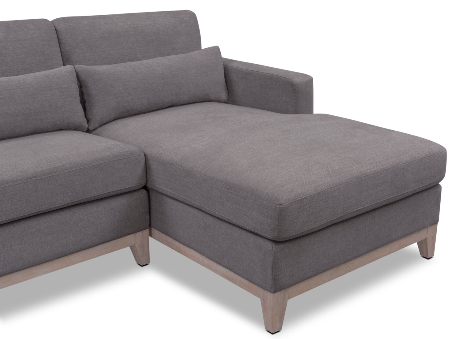 Crosby Gray 2 Piece Sectional With Chaise American Signature Furniture