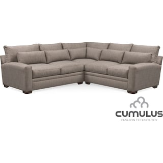 Winston Cumulus 3-Piece Sectional - Gray