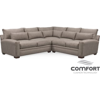 Winston Comfort 3-Piece Sectional - Gray