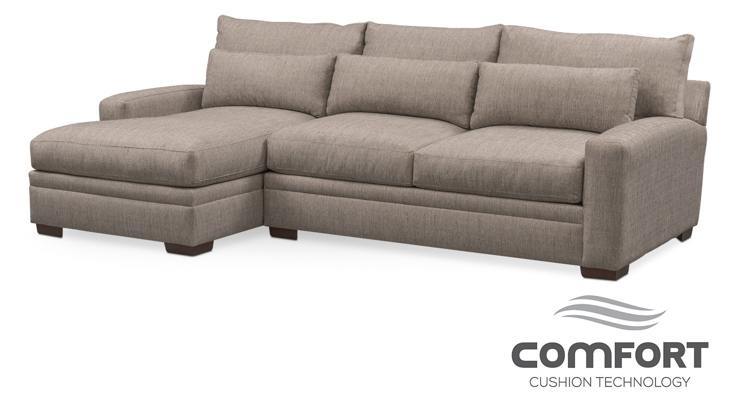 Winston comfort 2 piece sofa with left facing chaise for 2 piece sectionals with chaise