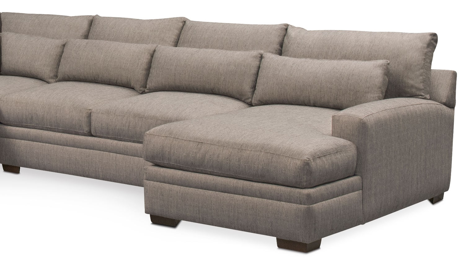 Winston comfort 4 piece sectional with right facing chaise for 4 piece sectional with chaise