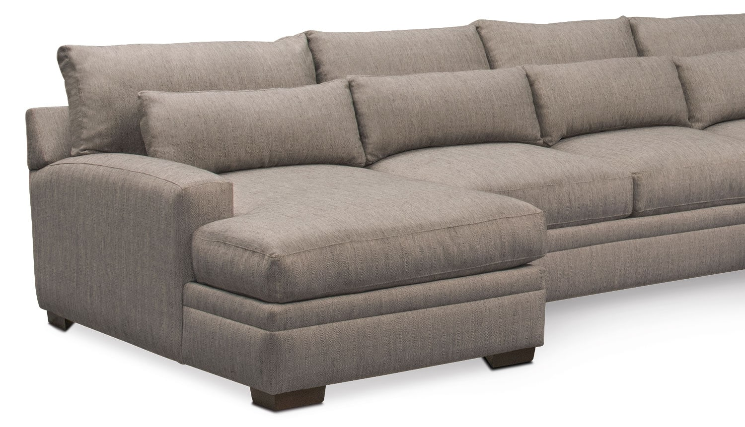 Winston comfort 4 piece sectional with left facing chaise for 4 piece sectional with chaise