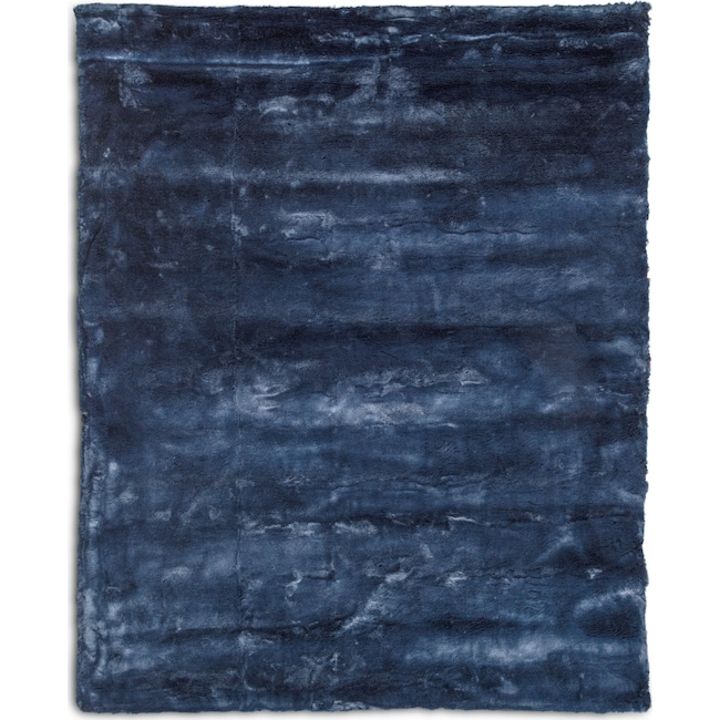 Rugs - Faux Fur 5' x 8' Area Rug - Moroccan Blue