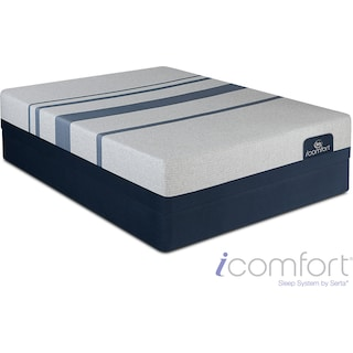 Blue 300 Firm Queen Mattress and Foundation Set