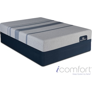 Blue Max 1000 Plush Queen Mattress and Foundation Set