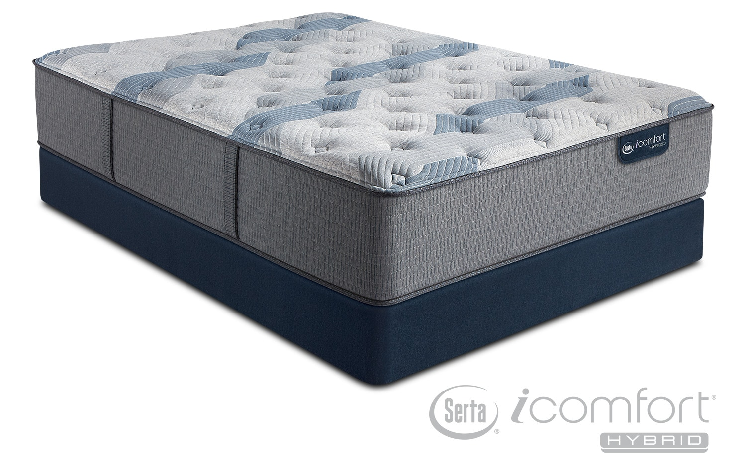 Blue Fusion 100 Firm California King Mattress And Split Foundation Set American Signature