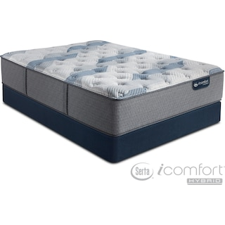 Blue Fusion 100 Firm Queen Mattress and Foundation Set