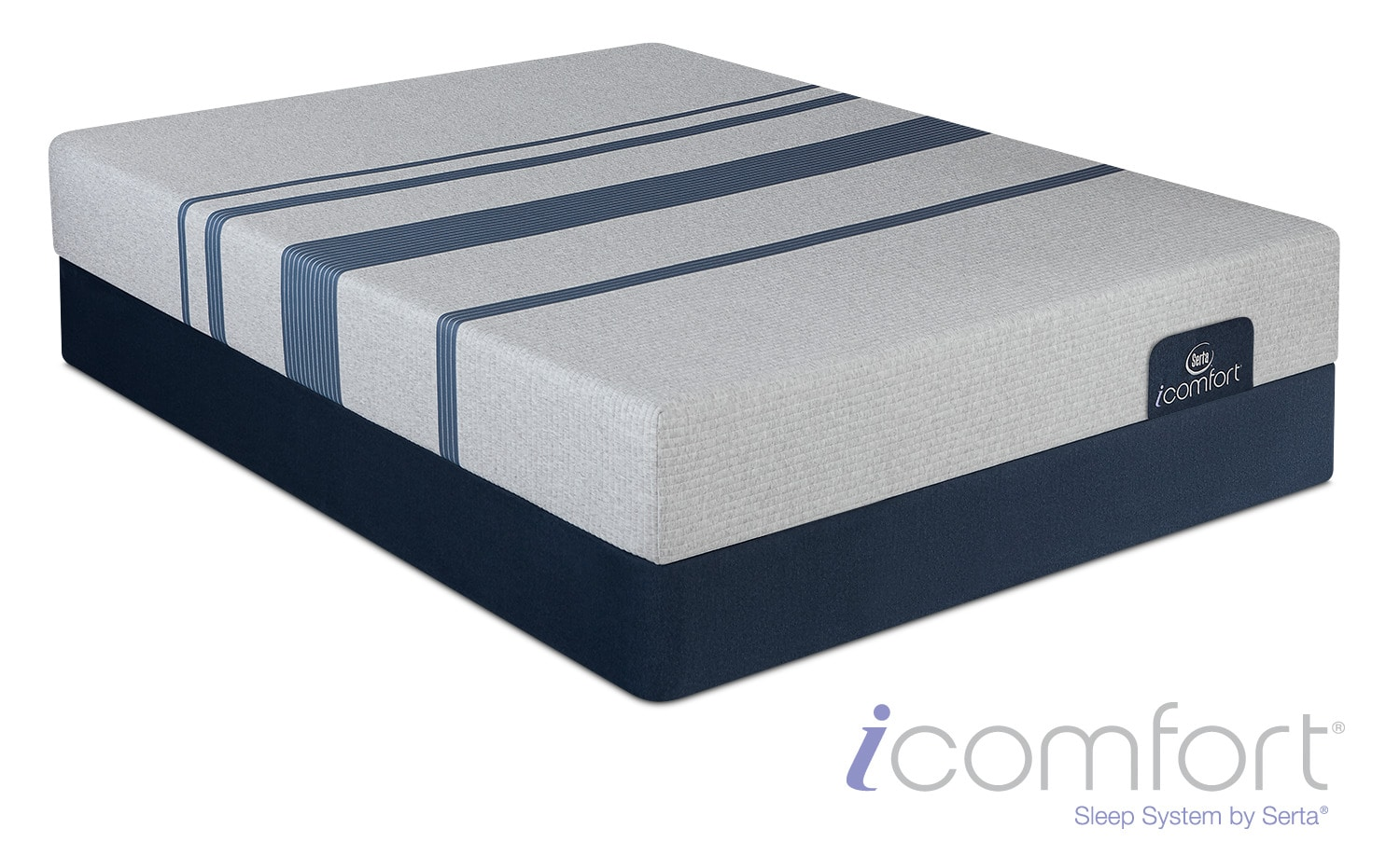 Blue 100 Cushion Firm Twin Xl Mattress And Foundation Set American Signature Furniture