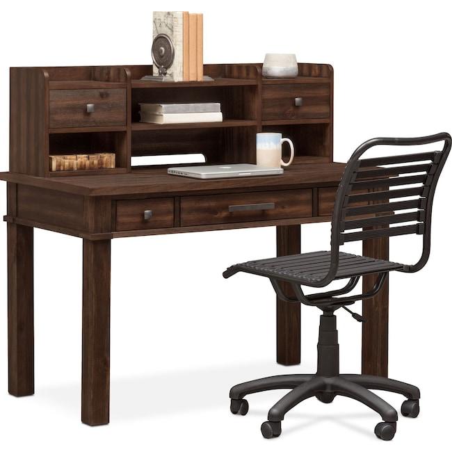 Kids Furniture - Tribeca Desk and Hutch - Tobacco