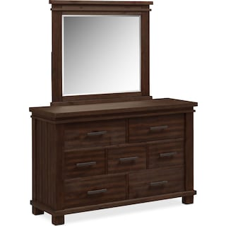 Tribeca Youth Dresser and Mirror - Tobacco