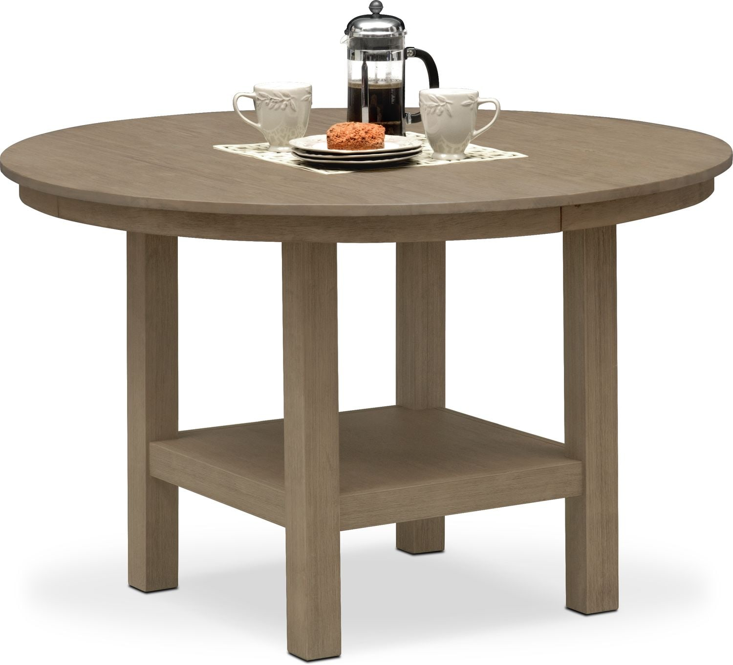 Dining Room Furniture - Tribeca Round Dining Table - Gray
