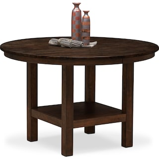 Tribeca Round Dining Table - Tobacco