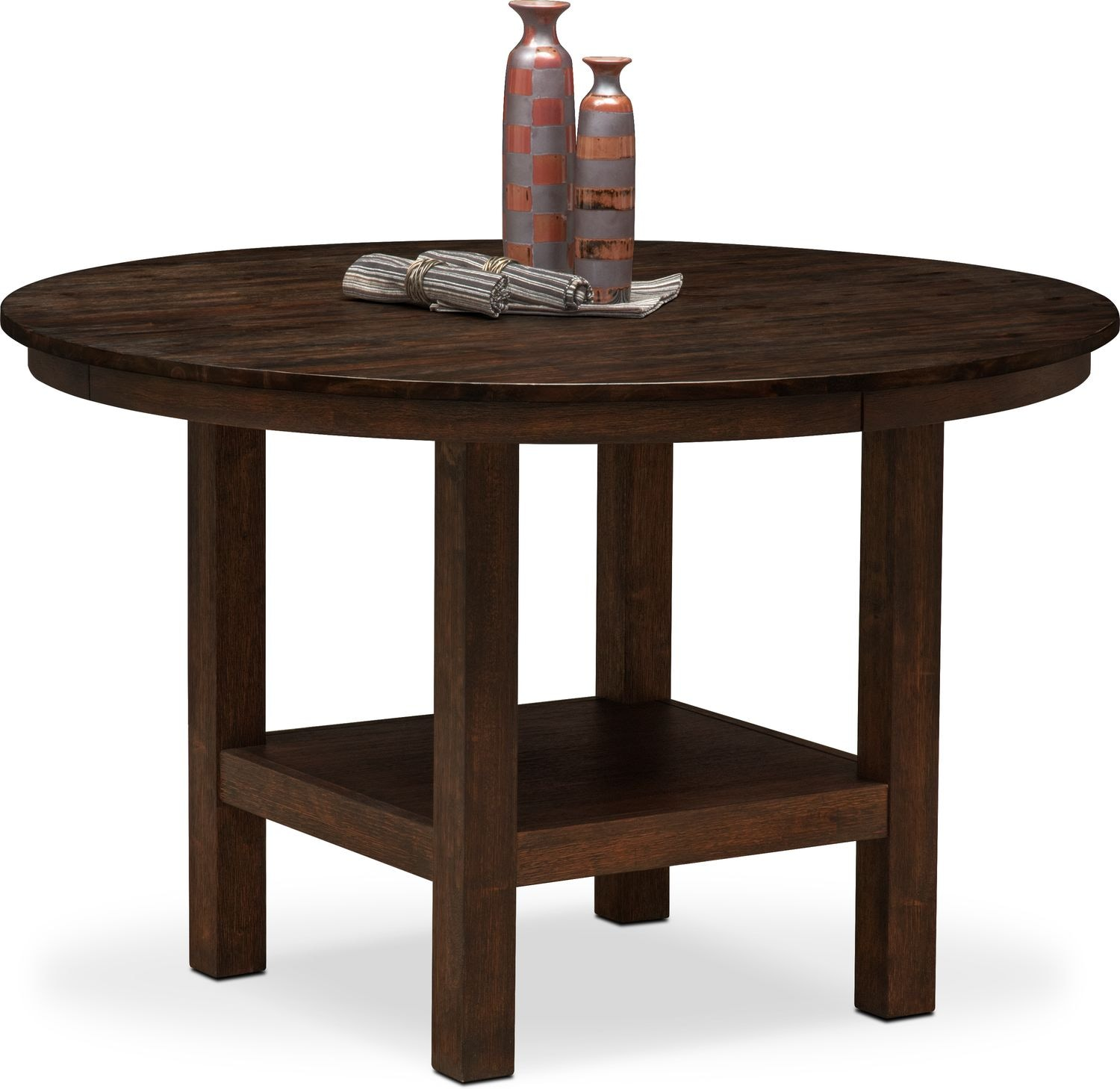 Tribeca Round Dining Table   Tobacco