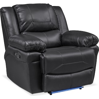 Monza Manual Recliner - Black