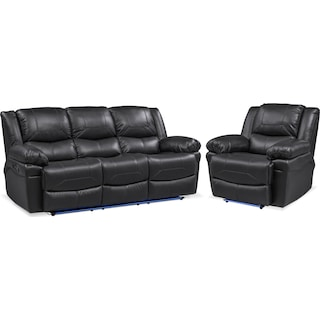 Monza Manual Reclining Sofa and Recliner Set