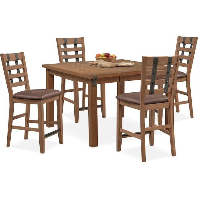 Dining Room Furniture - Hampton Counter-Height Dining Table and 4 Stools