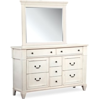 Waverly Dresser and Mirror - White
