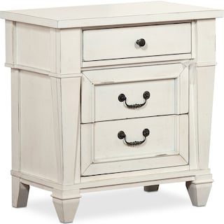 Waverly 3-Drawer Nightstand - White
