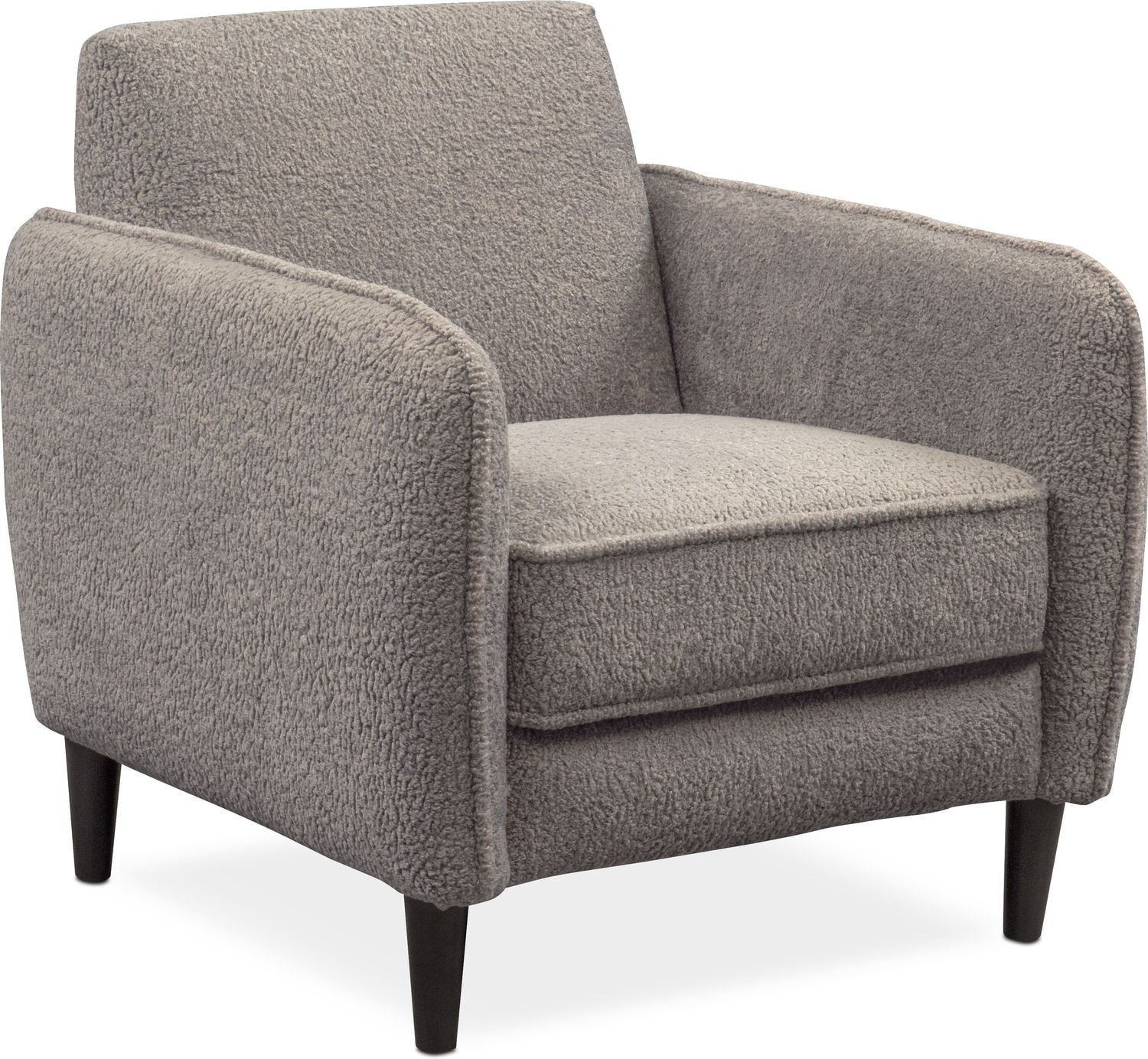 Cement Arm Chairs ~ Terry piece sectional with right facing chaise and