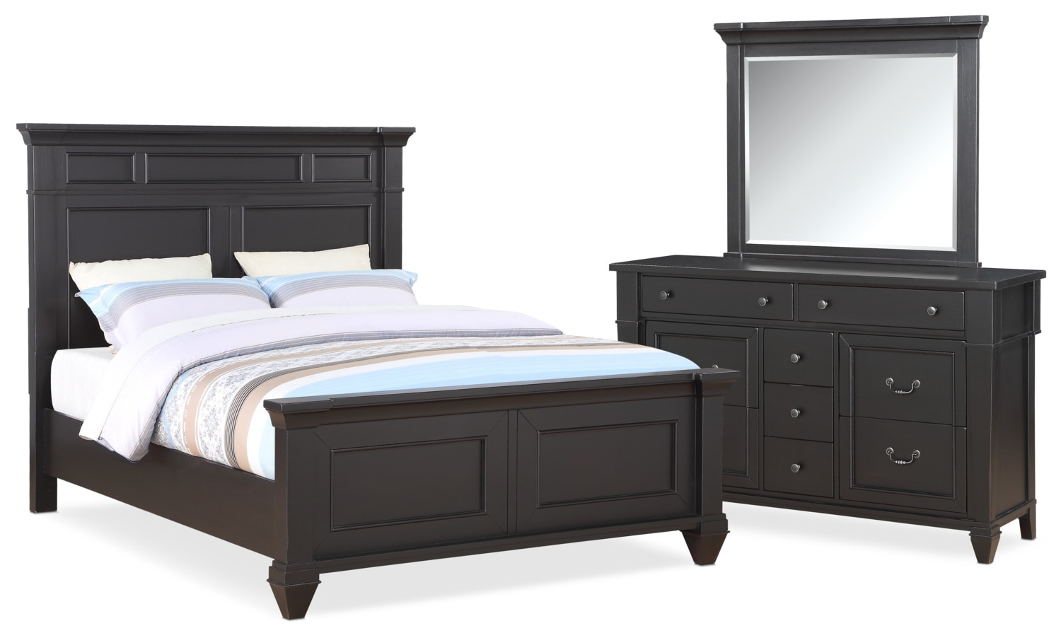 Waverly 5 Piece King Bedroom Set   Black