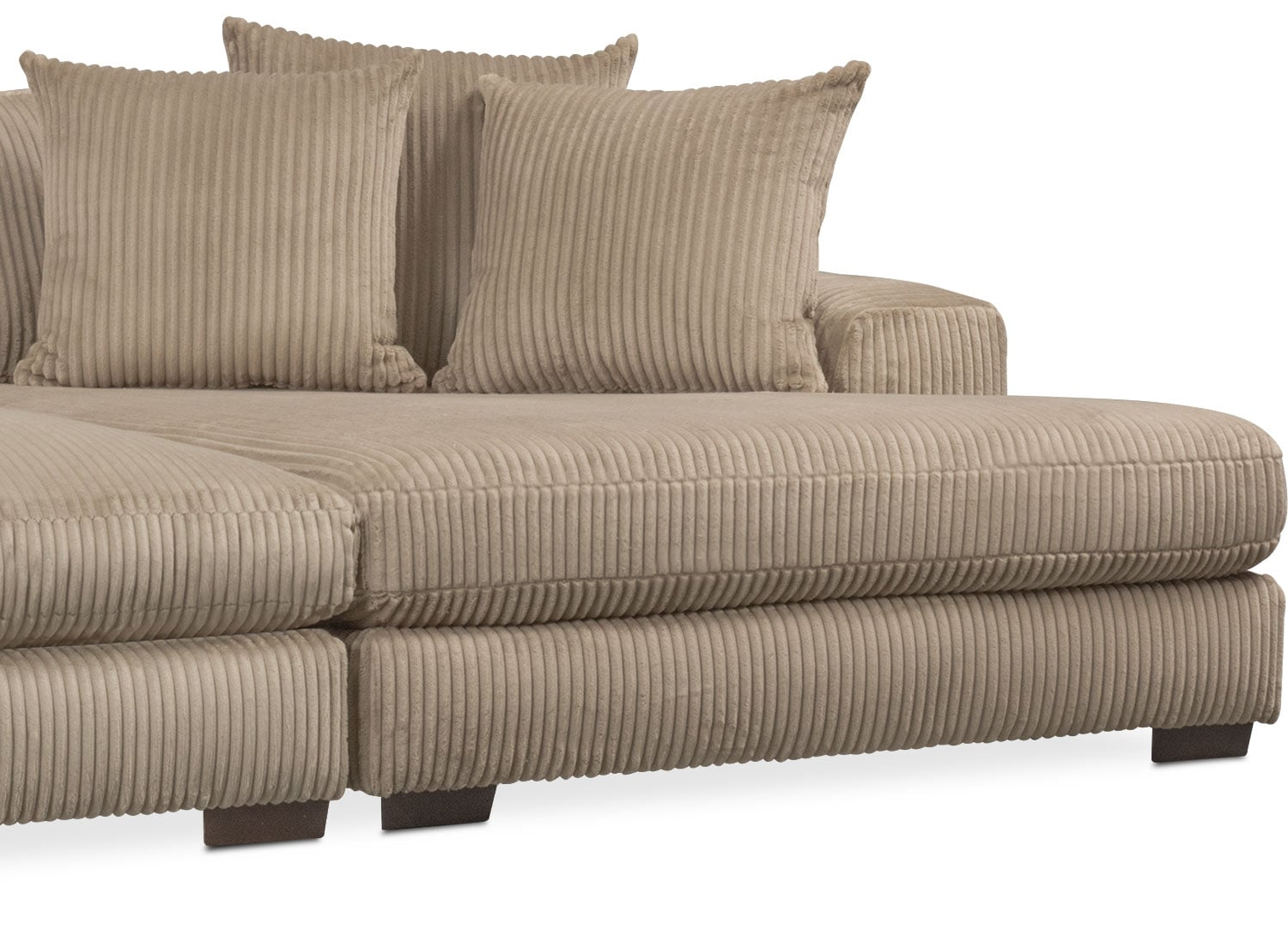 Lounge 2-Piece Sectional with Double Chaise - Beige ...