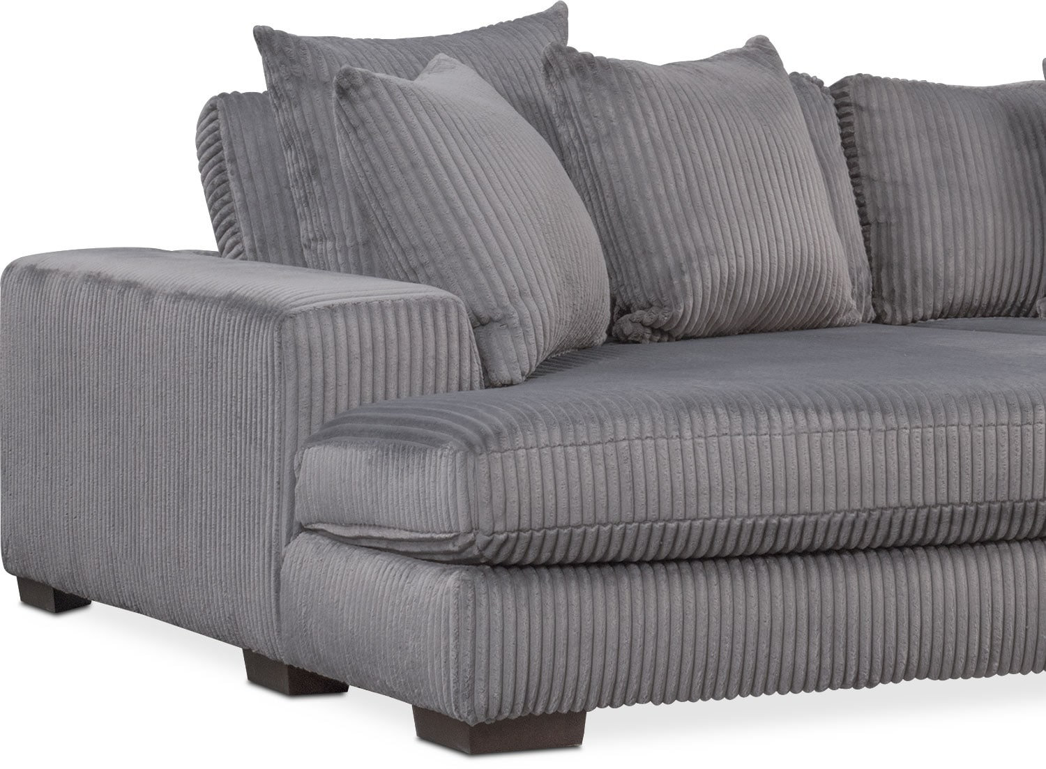 Lounge 2-Piece Sectional with Double Chaise - Gray ...