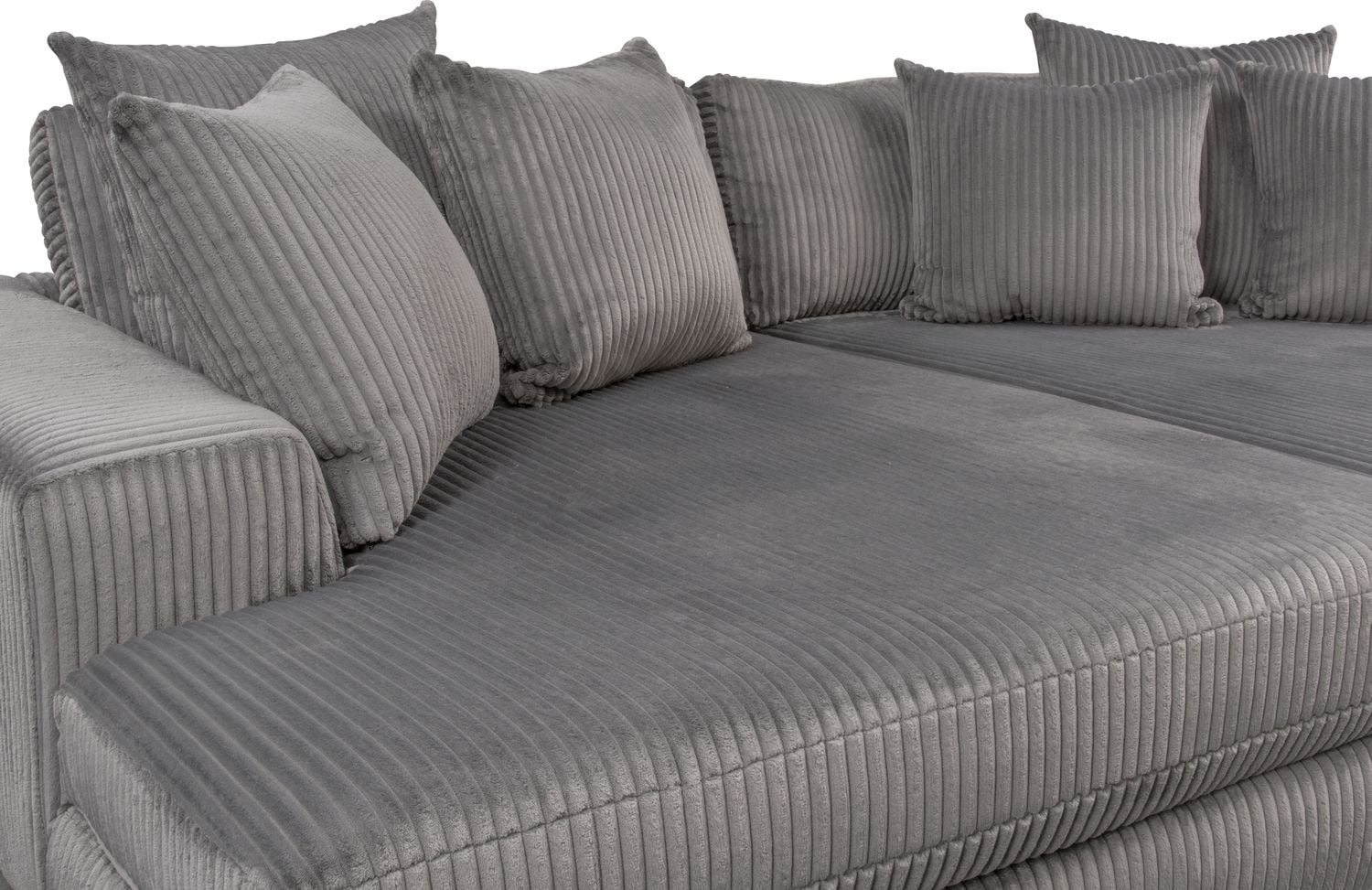 Lounge 2 Piece Sectional With Double Chaise Gray