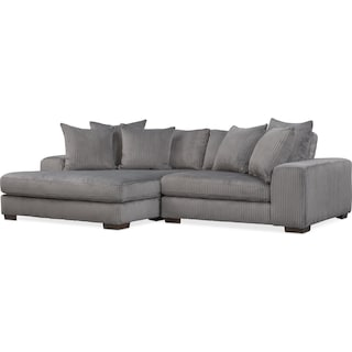 Lounge 2-Piece Sectional with Left-Facing Chaise - Gray