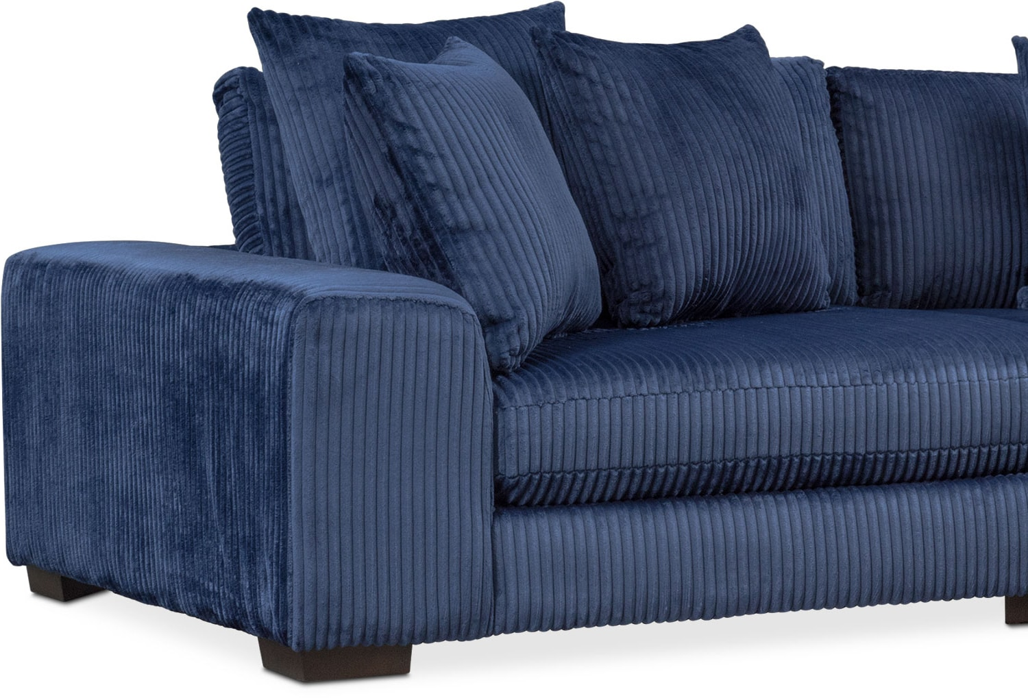 Lounge 2 Piece Sectional With Right Facing Chaise Navy