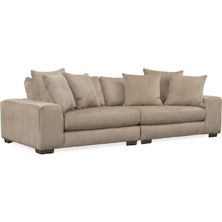 Lounge 2-Piece Sofa - Beige