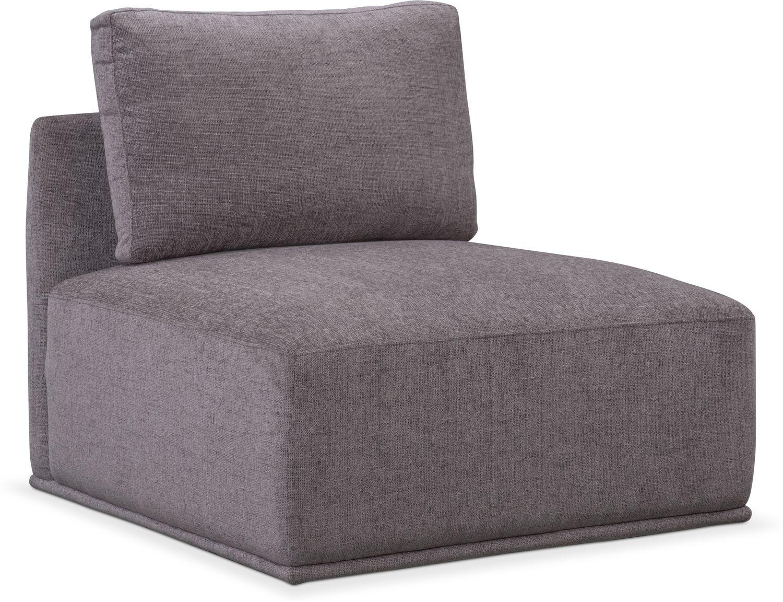 Living Room Furniture - Rio Armless Chair - Gray