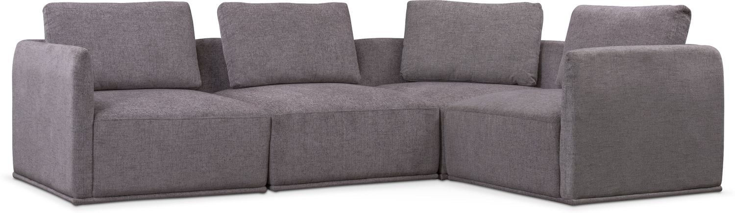 Outstanding Rio 4 Piece Sectional Gray Download Free Architecture Designs Terstmadebymaigaardcom