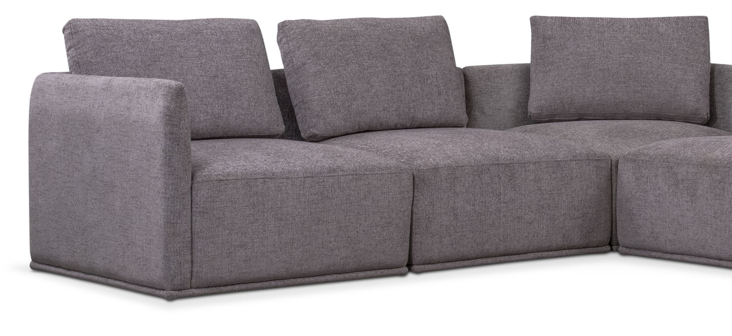 ... Rio 5 Piece Sectional With 3 Corner Chairs   Gray