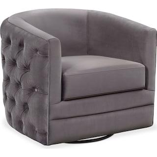 Chloe Swivel Chair - Gunmetal