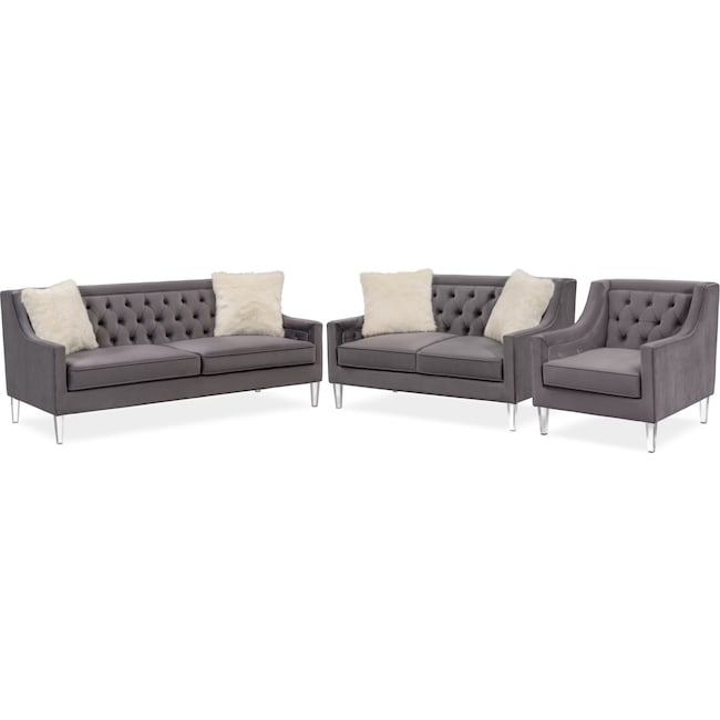 Prime Chloe Sofa Loveseat And Chair Set Machost Co Dining Chair Design Ideas Machostcouk