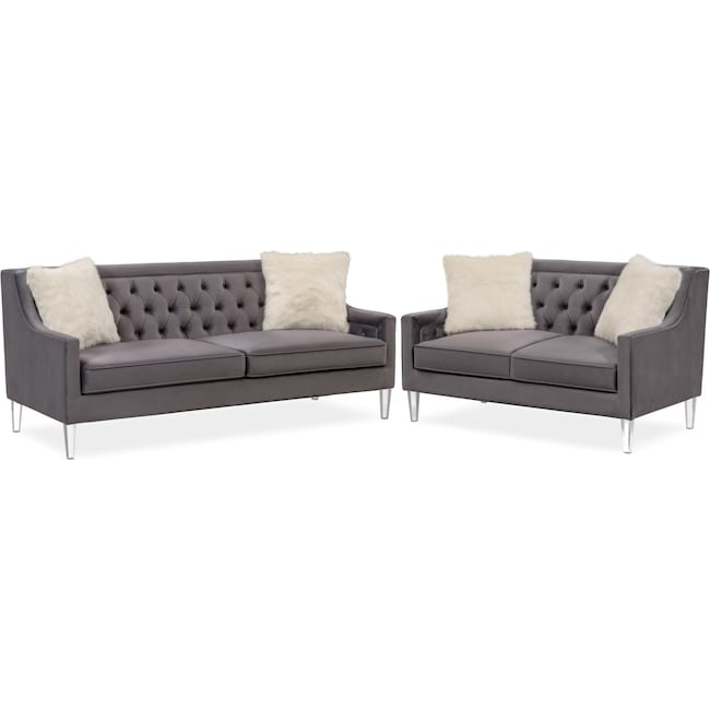Living Room Furniture - Chloe Sofa and Loveseat Set
