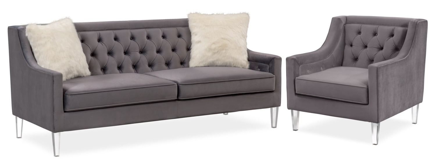 Living Room Furniture - Chloe Sofa and Chair Set