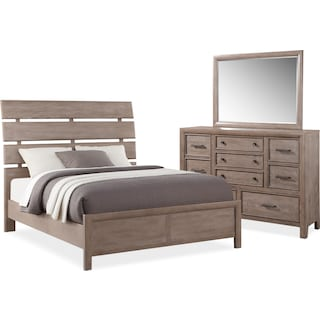 Hampton 5-Piece Queen Bedroom Set - Gray