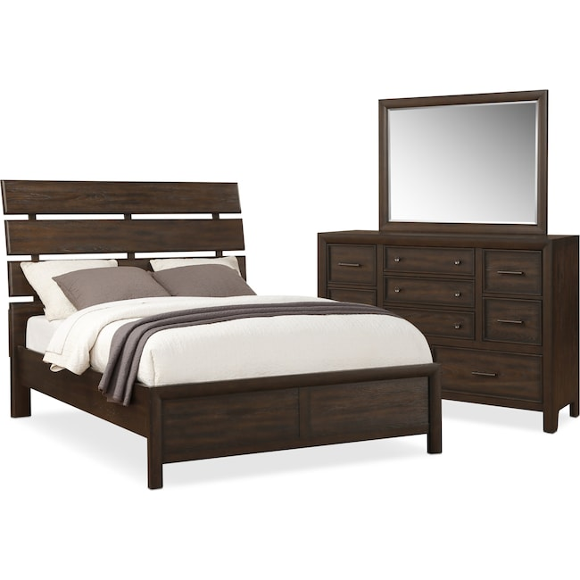 Bedroom Furniture - Hampton 5-Piece Queen Bedroom Set - Cocoa
